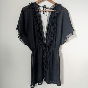 NWT Victoria's Secret black robe